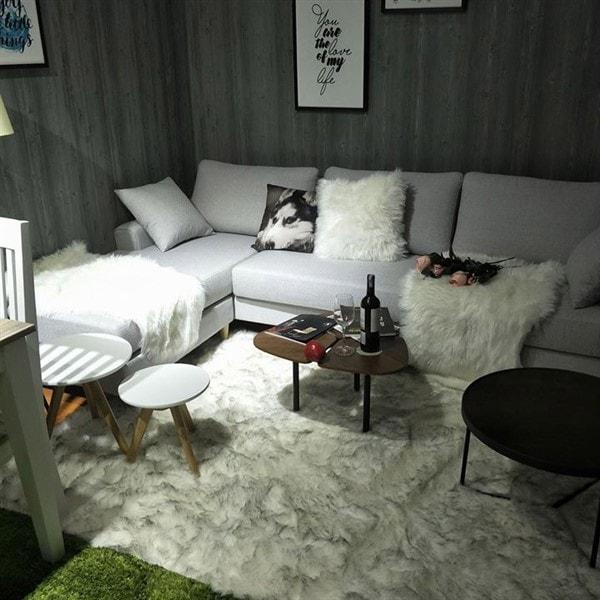 Ghế sofa chữ L bộ nỉ đẹp