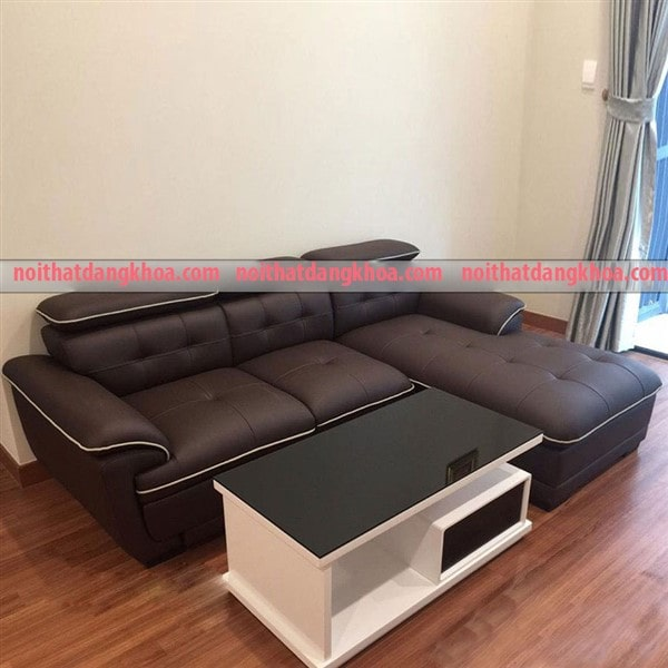 Ghế sofa da chữ L phòng khách cao cấp