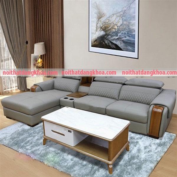 Ghế sofa da chữ L cao cấp