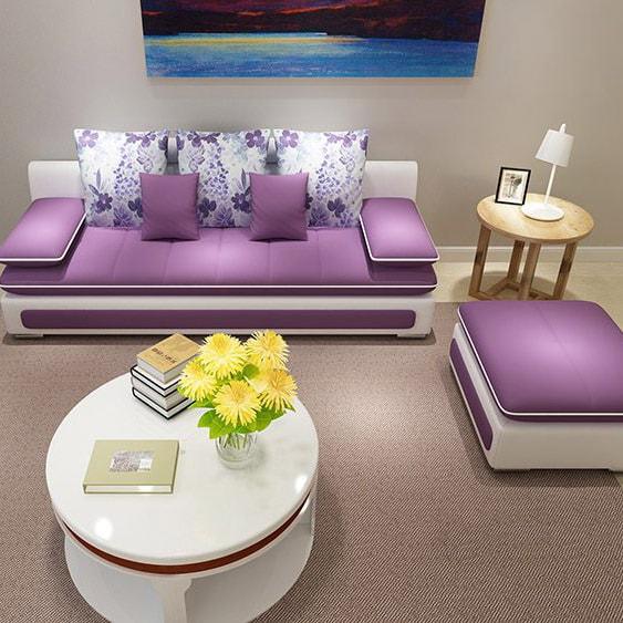 Ghế sofa nỉ giá rẻ cho phòng khách hiện đại
